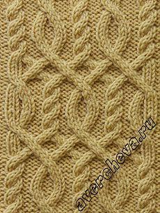 Узор 725 « узор из кос» | каталог вязаных спицами узоров | вязание-узоры | Постила