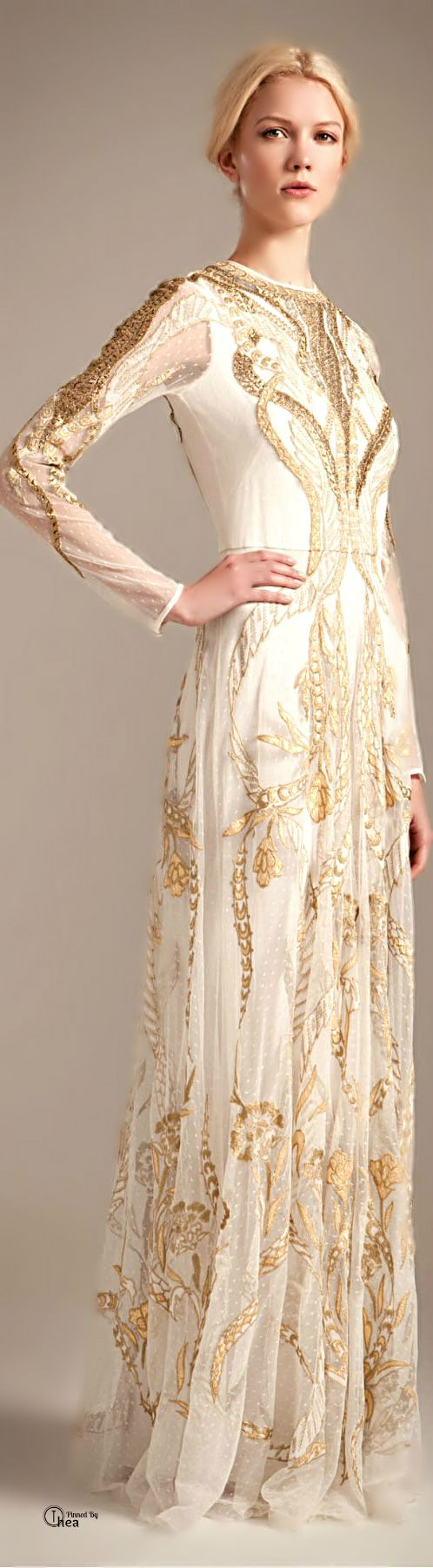 Temperley London ● 2013, Gold Evening Gown