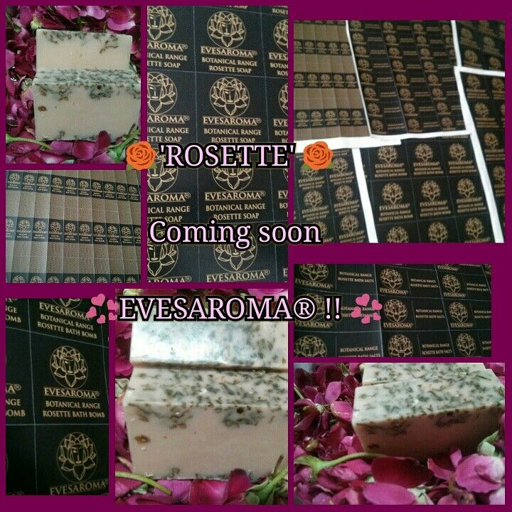 Evesaroma® Rosette Range of handcrafted soaps, salts and bombs.