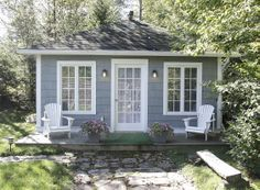 """These beautiful 1920's Bungalow Cottages have been featured in COUNTRY Living Magazine, DOMINO Magazine and HGTV's """"Small Space, Big Style."""" They are nestled in the heart of the Adirondack Park in the Village of Lake Placid, New York! Home of the 1932 and 1980 Winter Olympic Games. http://www.go-cottage.com/index.html"""