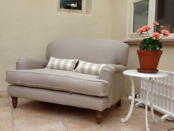 Natural Flax Pure Belgian Linen Sofa.com | Home   Sofa | Pinterest | Linens