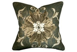 Fleurette Pewter Pillow: Pewter Pillow, Fleurette Pillow, Butera Fleurette, Fleurette Pewter, Pillows