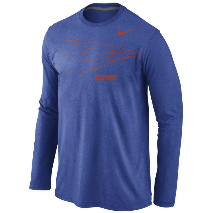 Mens Florida Gators Nike Royal Blue Attribute Long Sleeve T-Shirt