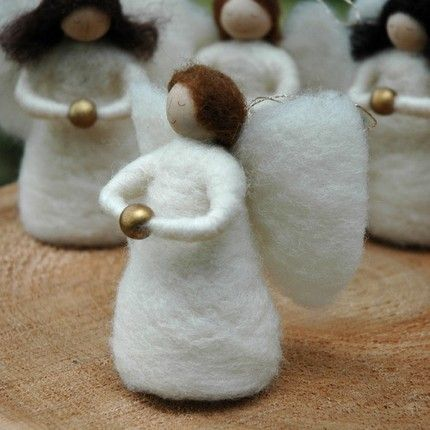 Christmas Angel - Needle Felted Ornament: Needle Felted Ornaments, Christmas Angels, Needle Felted Xmas Ornaments, Angel Ornaments, Needle Felting, Christmas Felt, Needle Felted Angel