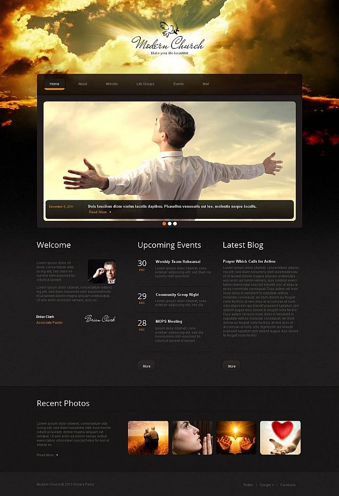 Christian Moto Cms Html Template 52615 Website Template Responsive Website Template Web Design Software