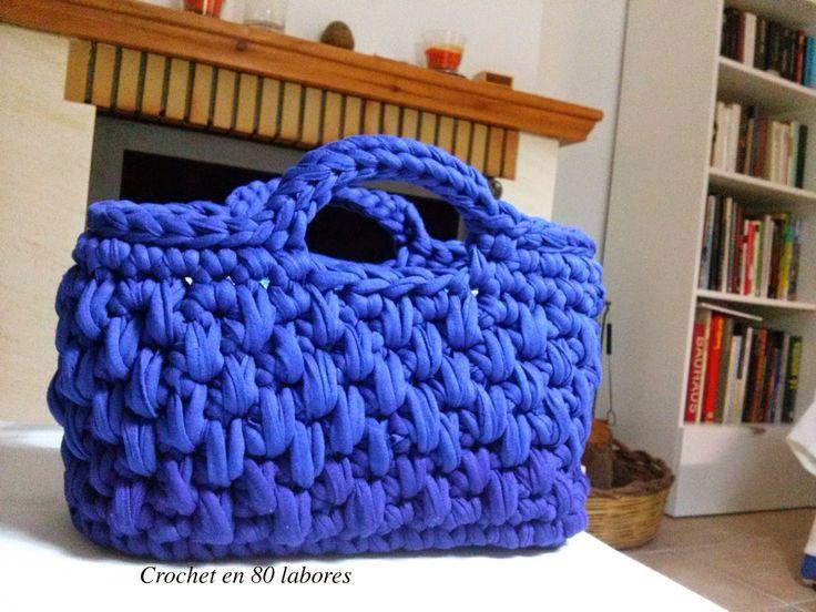 Crochet en 80 labores: Patrón bolso de mano de ganchillo en punto cesto