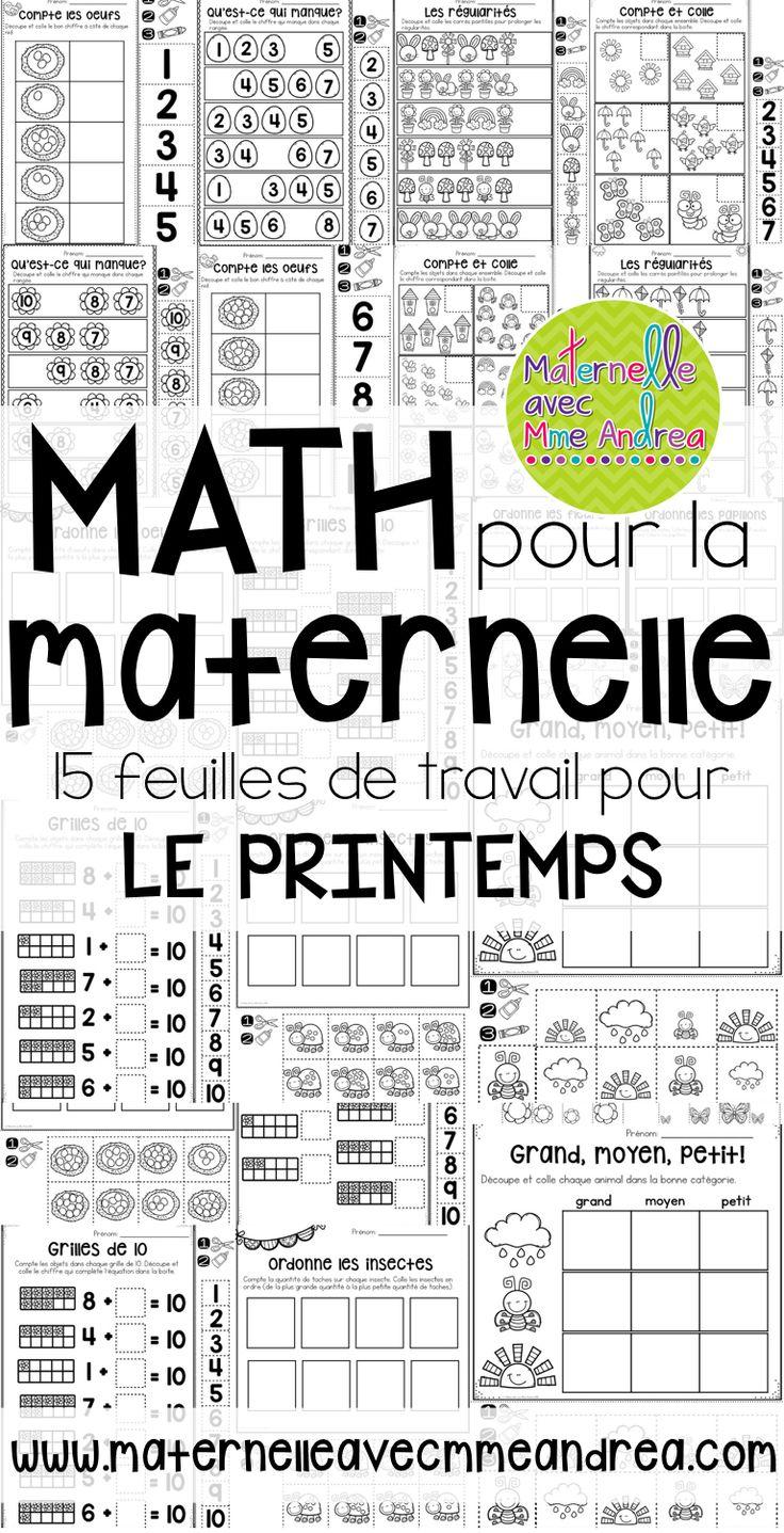 french spring no prep math worksheets cut paste maternelle le muguet p ques maternelle. Black Bedroom Furniture Sets. Home Design Ideas