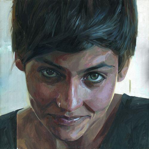 "Alberto Mielgo ""Manuela"" oil on canvas"