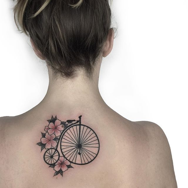 Bicycle With Pink Flowers