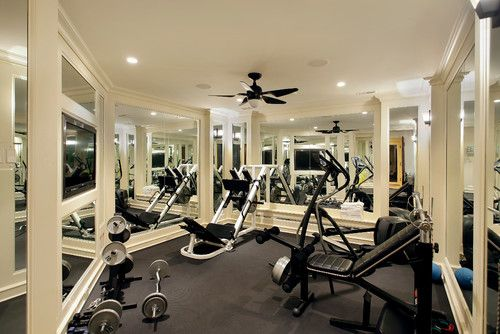 mirrors in workout room
