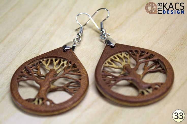 "3D veneer earrings Venearrings"" - Tree of life: Roots"