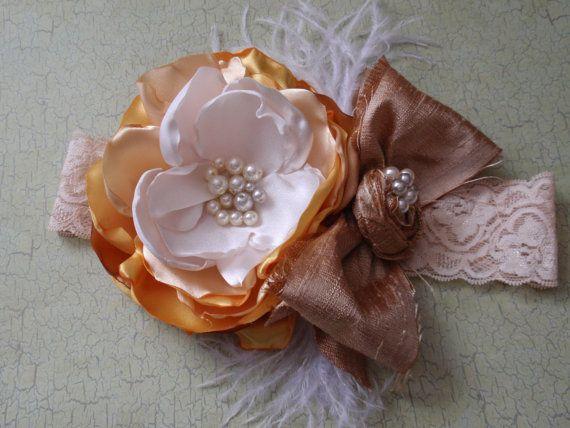 Girsl/Baby Headband Flower and Bow Headband by AldonasBoutique,