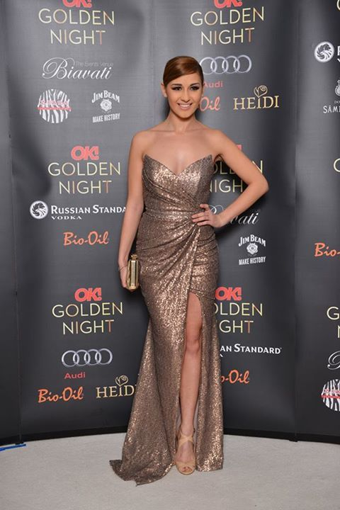 Gorgeous singer Alina Eremia shined at OK! Magazine Oscar Party 2015 in a…