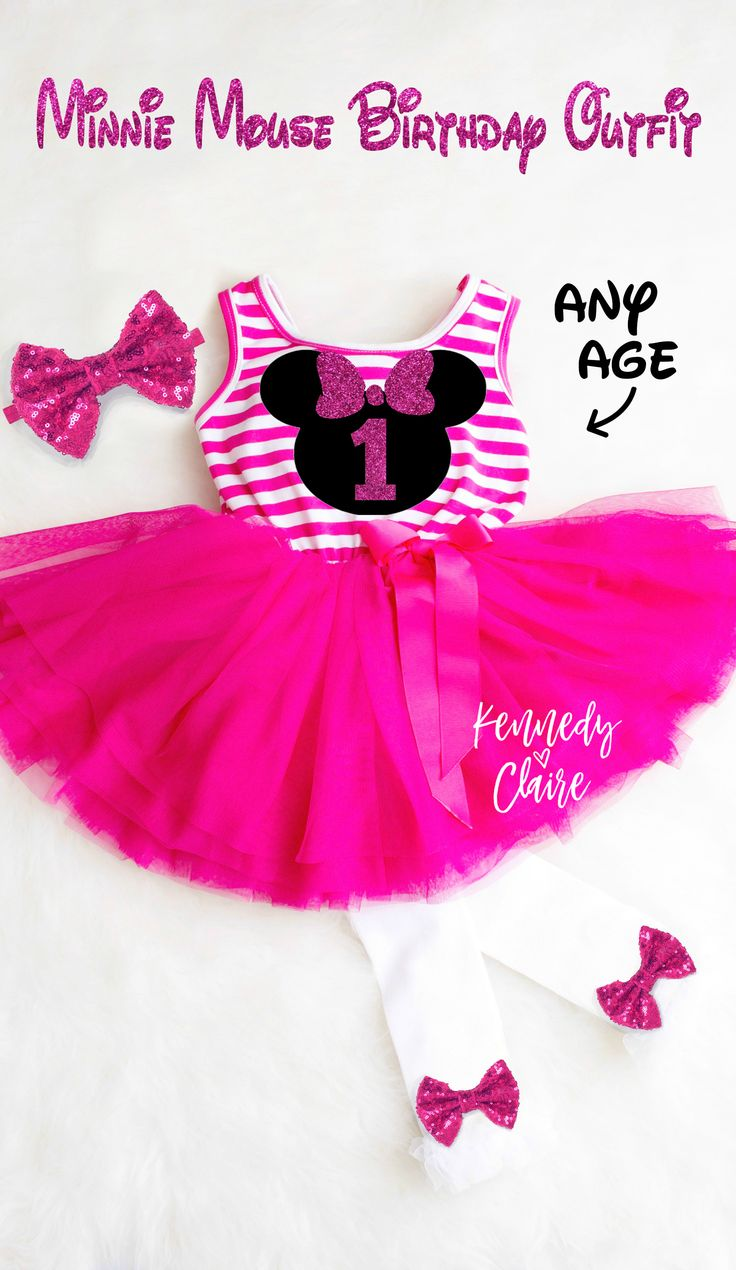 The ultimate Minnie Mouse Birthday Dress!!  Minnie Mouse Birthday tutu Outfit comes in First Birthday or Second Birthday #minniemouse1stbirthday #minniemouse2ndbirthday #minniemousebirthdayoutfit