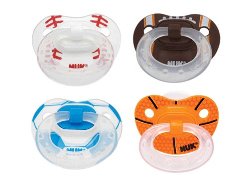 NUK Pacifiers Orthodontic BPA Free Silicone Sports Pacifier 2 Pk Size 1 Or 2