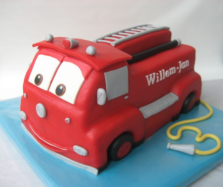 Très chouette ce camion de pompier - Cars Firetruck cakeCars (Kids birthday Disney Cars)