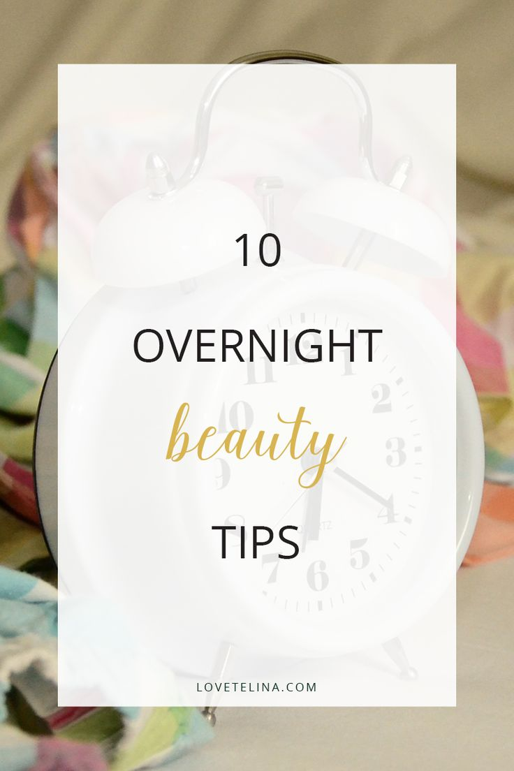 In today's post, I'm sharing some overnight beauty tips. These simple tips will give you flawless skin, brighter eyes, softer hair and lots more! For those who are always on the go, following these tips is a great way to save time. We sleep for eight hours a day, so we might as well put those hours to good use! Here are 10 overnight beauty tips and tricks that will improve