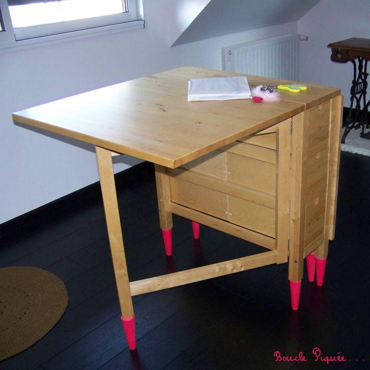 La table de coupe!! | Table de couture, Meuble couture, Rangement couture
