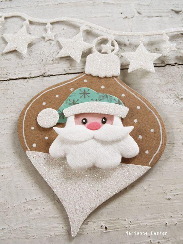 Kerstman baard uit wattenschijfje