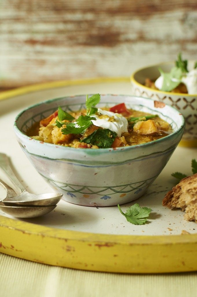 Healthy lentil, tomato & spinach soup | Jamie Oliver | Features