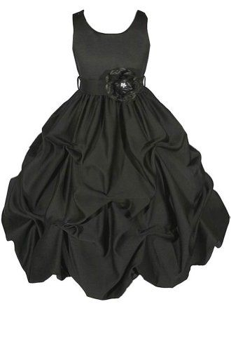 Black Flower Girl Dress 10