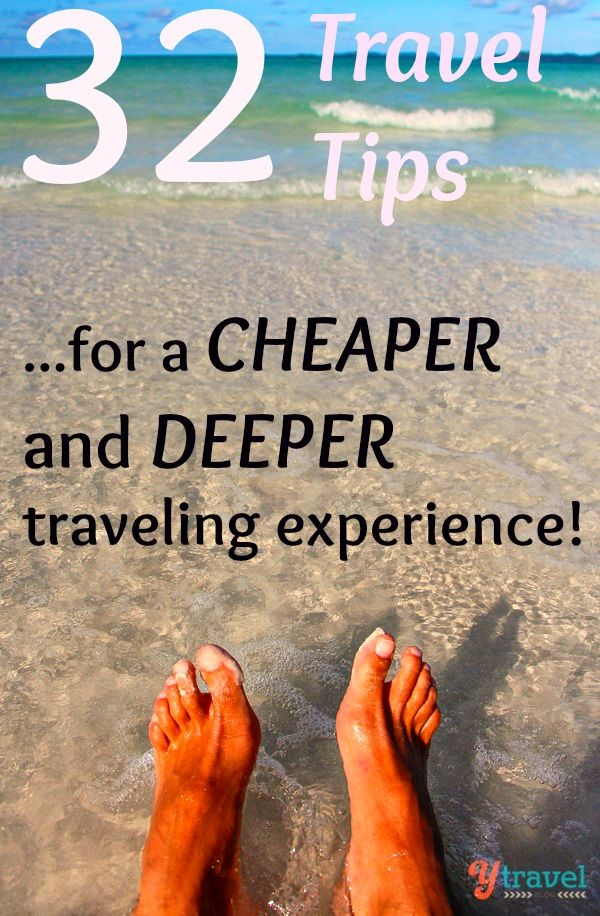 32 travel tips for a CHEAPER and DEEPER traveling experience! #travelscale #lightflight