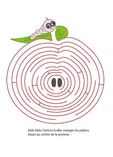 Labyrinthe Alphabet Jeu De Labyrinte