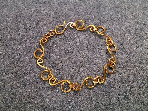 S-shaped bracelet - How to make wire jewelery 198