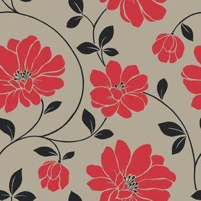 """The Wallpaper Company - Papier Peint 20.5"""" Nouvelle Tendance Rouge - WC1281142 - Home Depot Canada"""