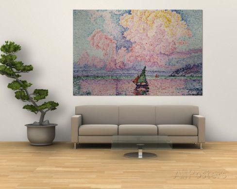 オールポスターズの ポール・シニャック「Pink Clouds, Antibes」ウォールミューラル