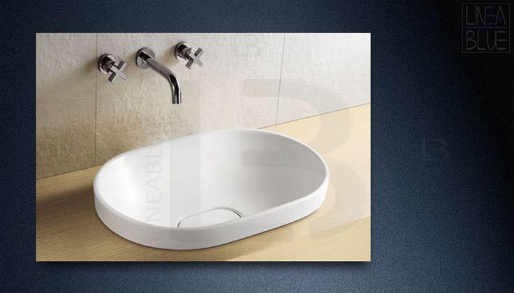 Umywalka wpuszczana w blat LINEABLUE UN 506A | Umywalki nablatowe | LINEABLUE Ceramika Sanitarna | Wanny wolnostojące, umywalki, misy wc, panele prysznicowe, kabiny, brodziki
