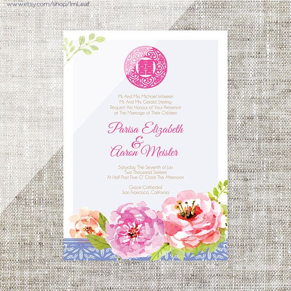 42 best Invitations images – Chinese Invitation Card