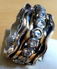 Ring spinner ring silver gold designer jewelry by Bluenoemi, $225.00