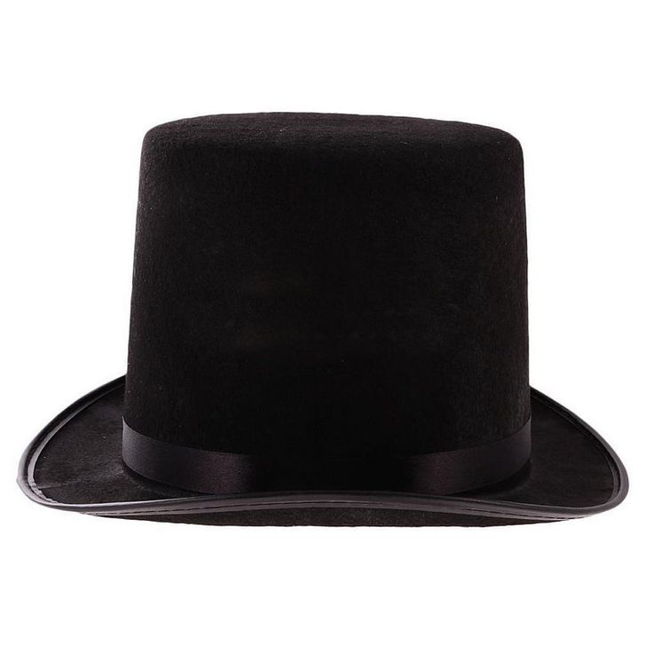 Tall Black Top Hat Steampunk Magician  Costume 1PC High Quality Hot item #Unbranded