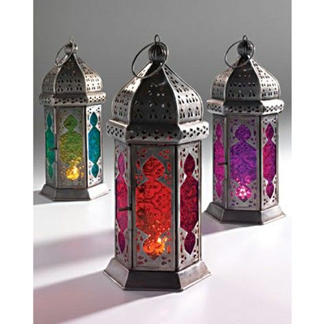 Moroccan style glass lamp, orange and red by Lindsay Interiors - mydeco.com