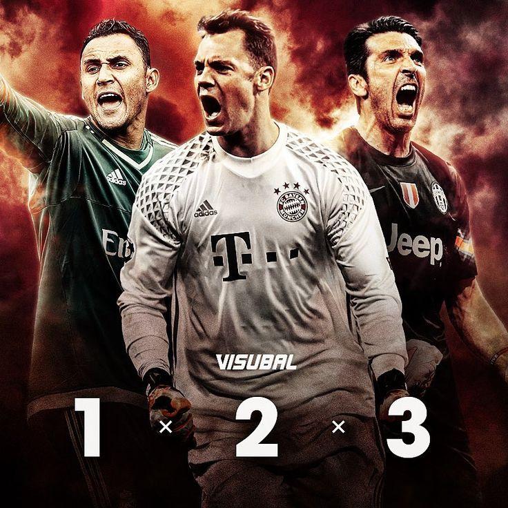 Who was the best goalkeeper of 2016-2017?  1️⃣ Navas 2️⃣ Neuer 3️⃣ Buffon  Comment below your goalkeeper for the Visubal Team of the Season! 🙌