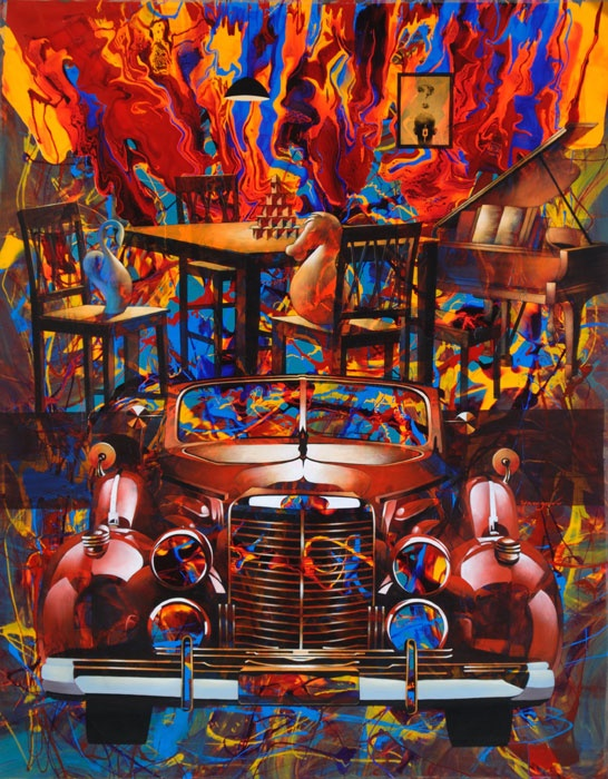 """60"""" x 78"""" - Acrylic On Canvas"""