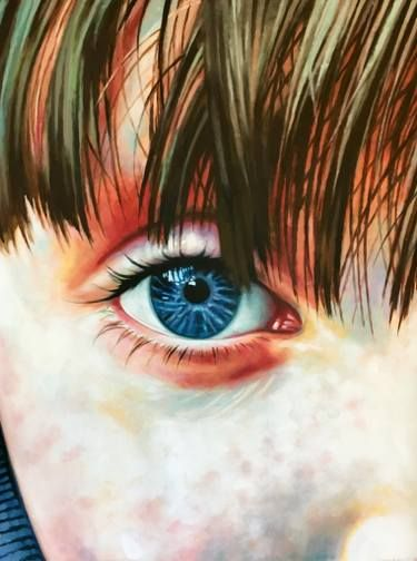 "Saatchi Art Artist Thomas Saliot; Painting, ""Blue Eye Kid"" #art"