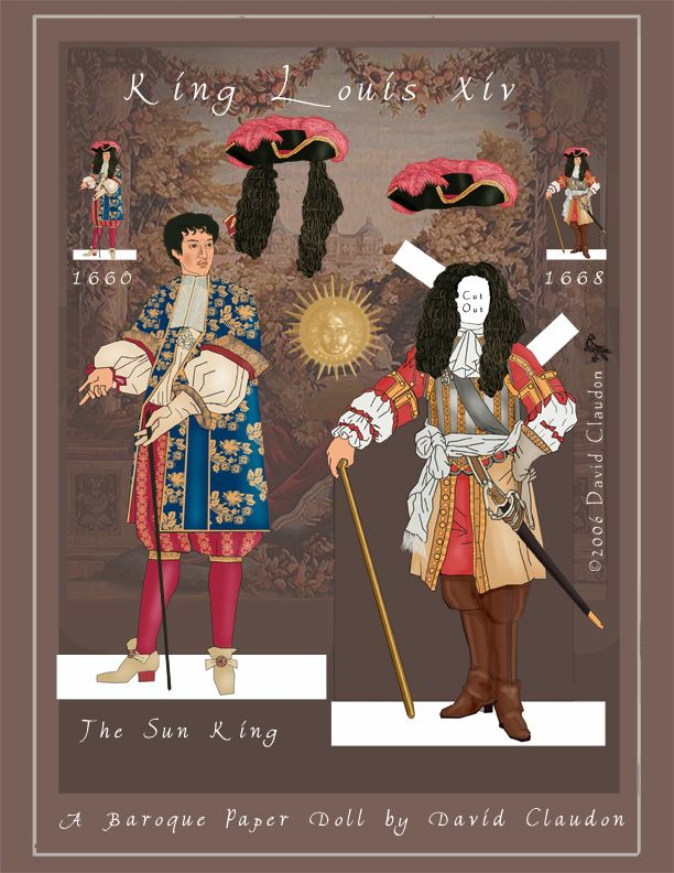 Louis XIV, the Sun King: a Baroque Paper Doll by David Claudon