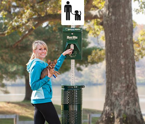 Mutt Mitt™ Poop Station | Dog Park Equipment ~ H2O Fido ~ The must-have at any dog friendly space or dog park. Mutt Mitt™ is best in dog park equipment poop station design and safety. (2-ply protection.) All stations come with everything you need and most important, we have been making them a long time.