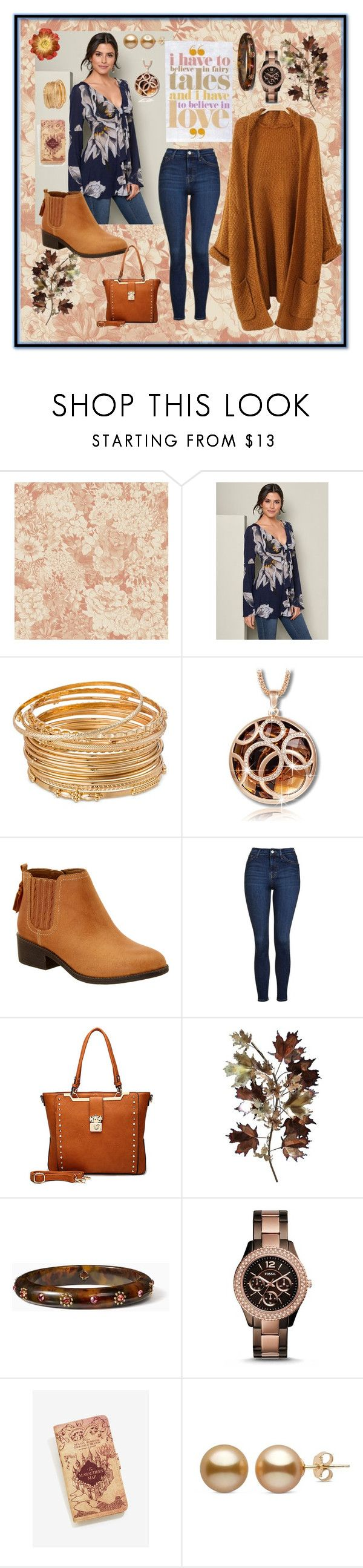 """Believe in Youself"" by aurorasblueheaven ❤ liked on Polyvore featuring Venus, Sperry, Topshop, C. Jeré, Kate Spade, FOSSIL and Warner Bros."