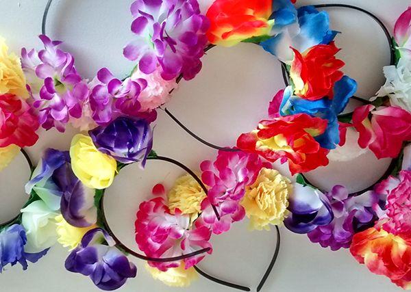 Vinchas de flores Cotillon Casamientos Bodas Eventos