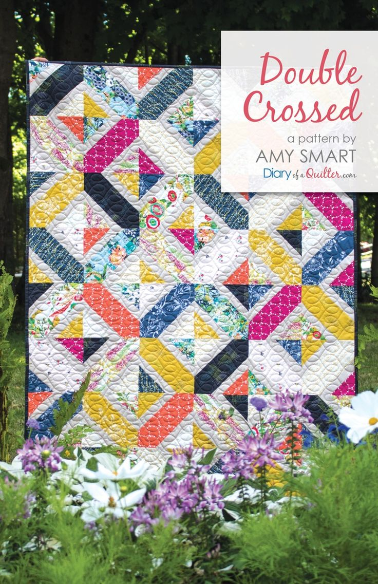 Double Crossed quilt pattern PDF by Amy Smart - Diary of a Quilter