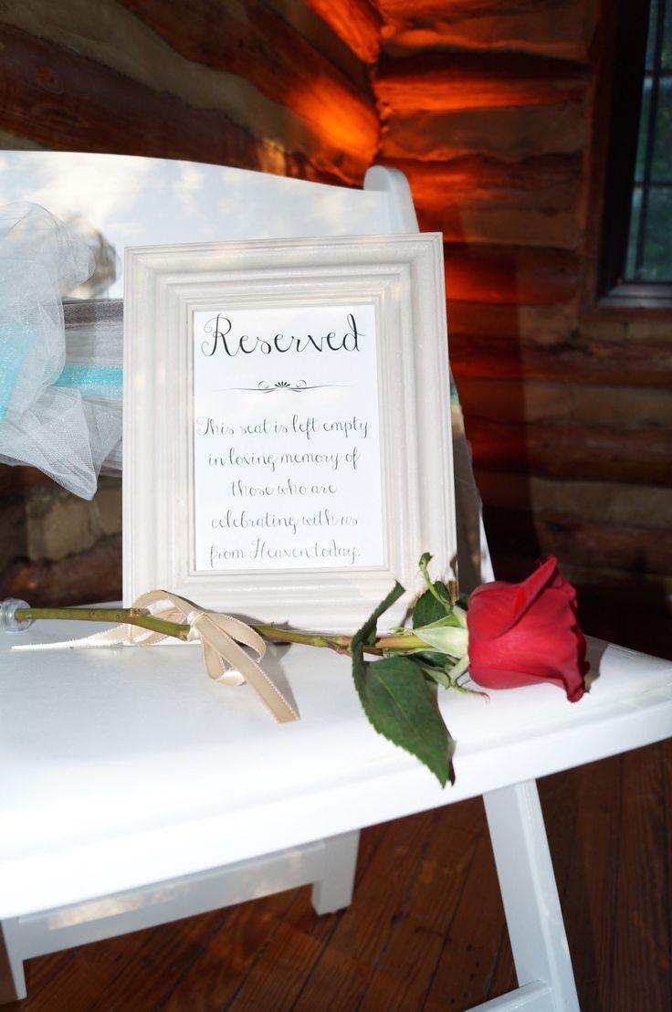 Best Ideas About Wedding Memorial On Pinterest