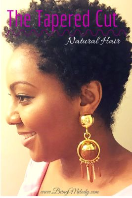 How to Grow Out a Tapered TWA. More information can be found at www.beingmelody.com #naturalhair #taperedtwa #twa