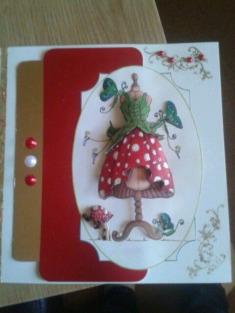 Cute card i made using house of zandra