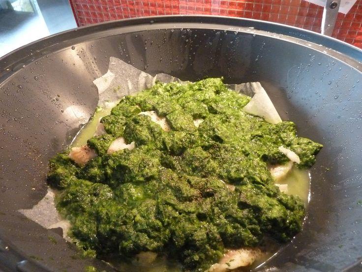 gefrorener Fisch-Spinat im Varoma