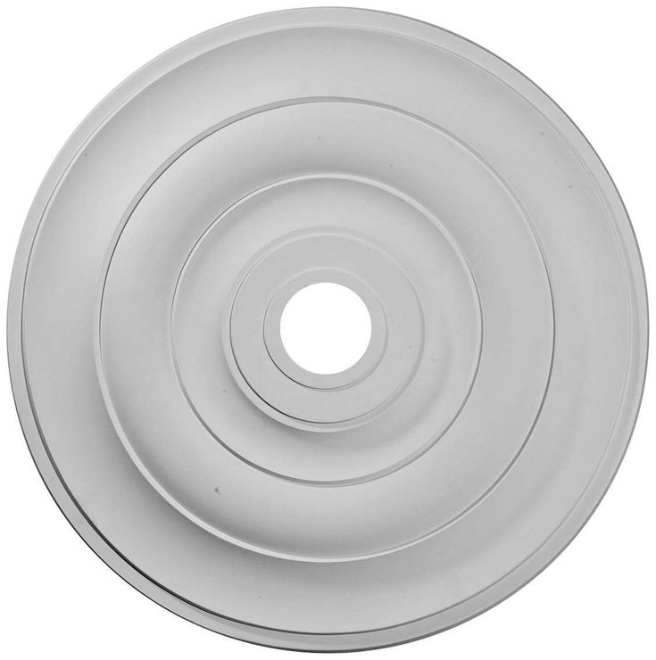 Jefferson 26 And One Half Inch Wide Primed Round Ceiling Medallion In 2020 Ceiling Medallions Medallion Lamps Plus