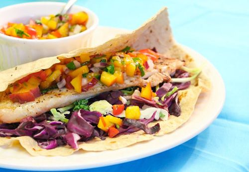 Grilled Tilapia Tacos with Nectarine Salsa Recipe