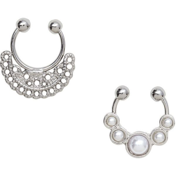 2-pack Nose Rings $5.99 ($5.99) ❤ liked on Polyvore featuring jewelry and metal jewelry